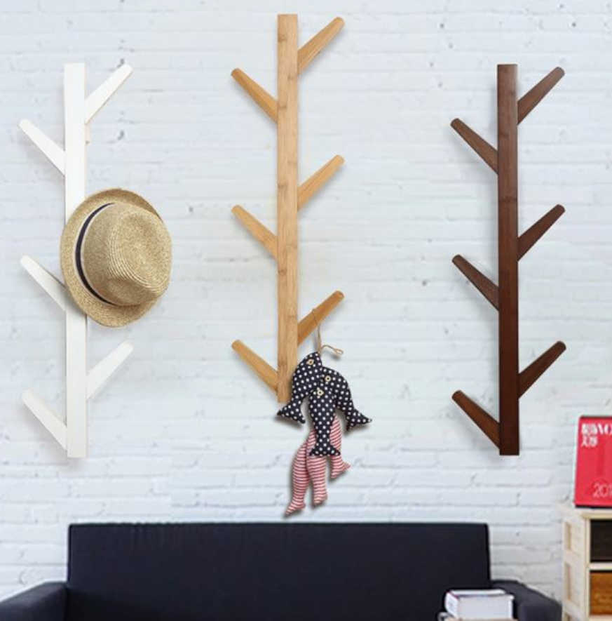 perchero pared arbol